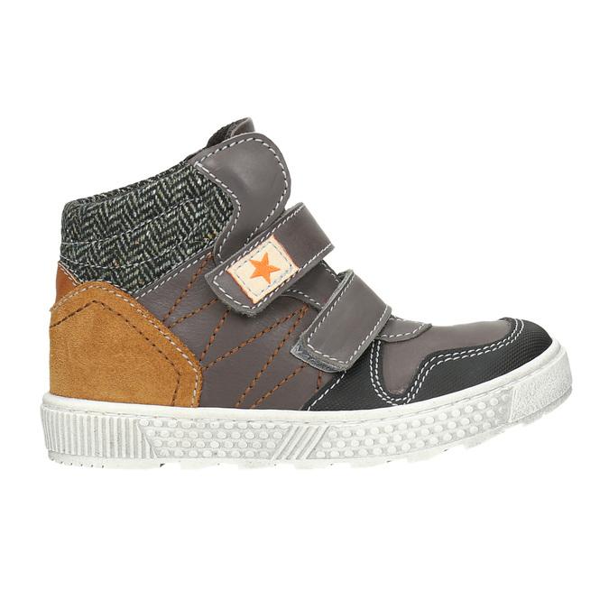 Knöchelhohe Sneakers aus Leder mini-b, Braun, 214-4203 - 26