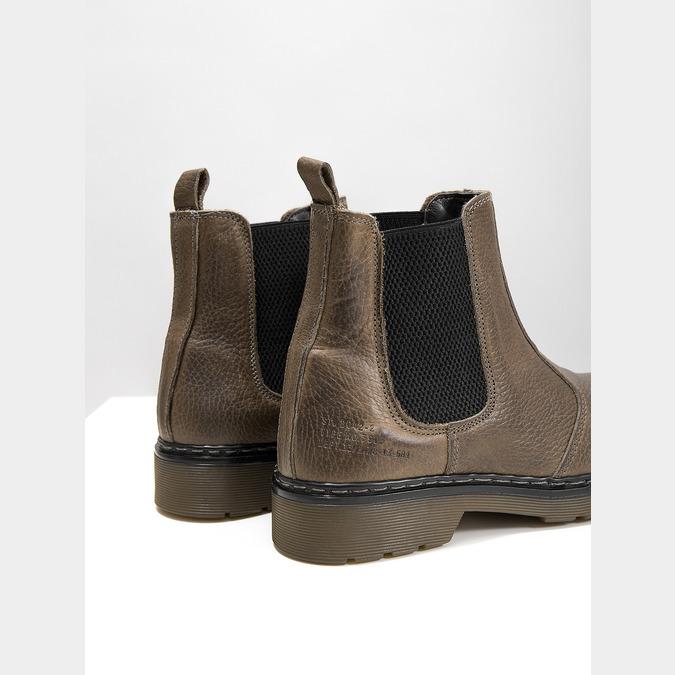 Damen-Chelsea-Boots aus Leder bata, Braun, 596-7680 - 14