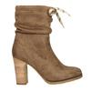 Braune Stiefel mit Absatz bata, Braun, 799-3613 - 15