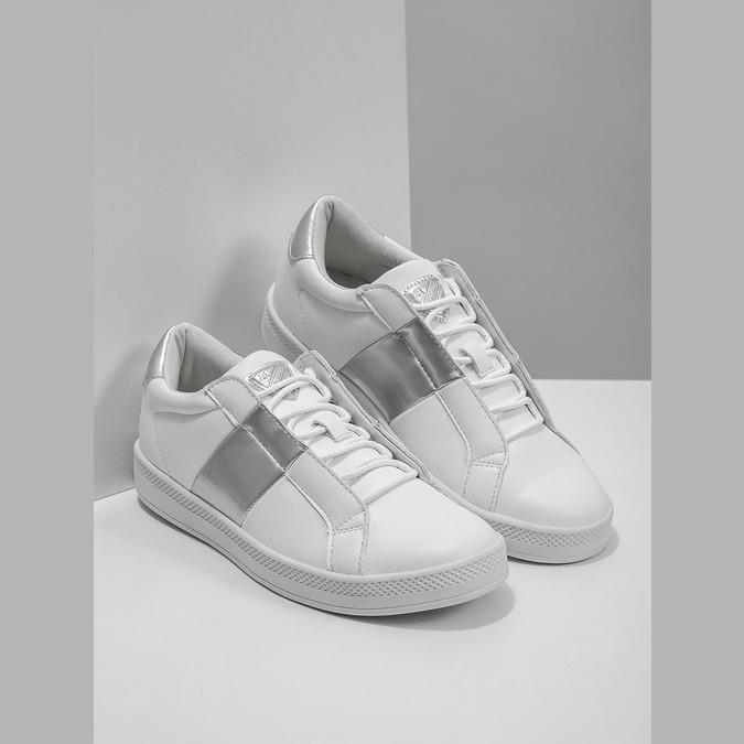 Weisse Damen-Sneakers atletico, Weiss, 501-1171 - 18