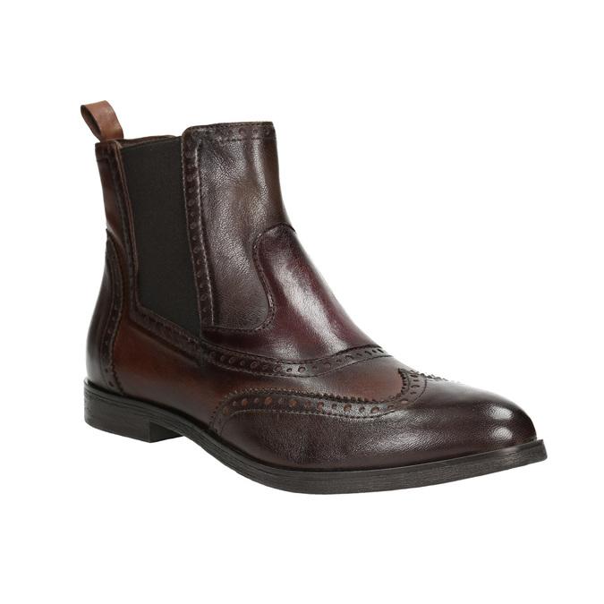Damen-Chelsea-Boots mit Brogue-Verzierung bata, Braun, 596-4683 - 13