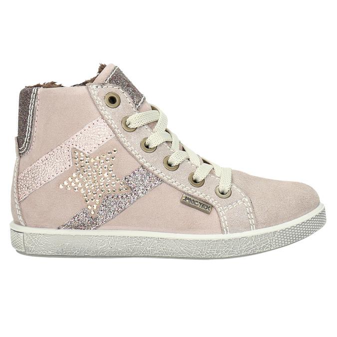 Knöchelhohe Kinder-Sneakers aus Leder mini-b, Rosa, 223-5170 - 15