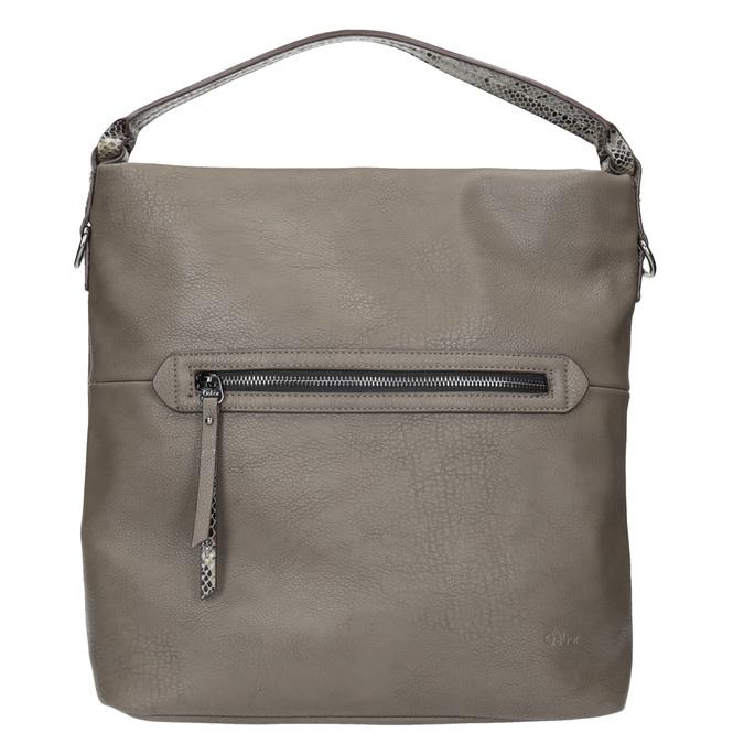 Damen-Hobo-Handtasche aus Leder mit Gurt gabor-bags, Gelb, 961-8029 - 26