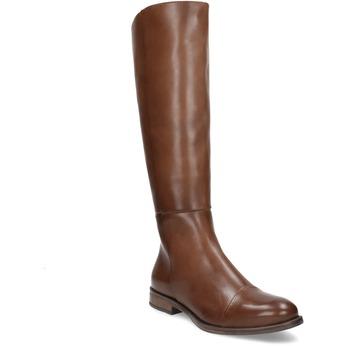 Braune Lederstiefel bata, Braun, 594-4637 - 13
