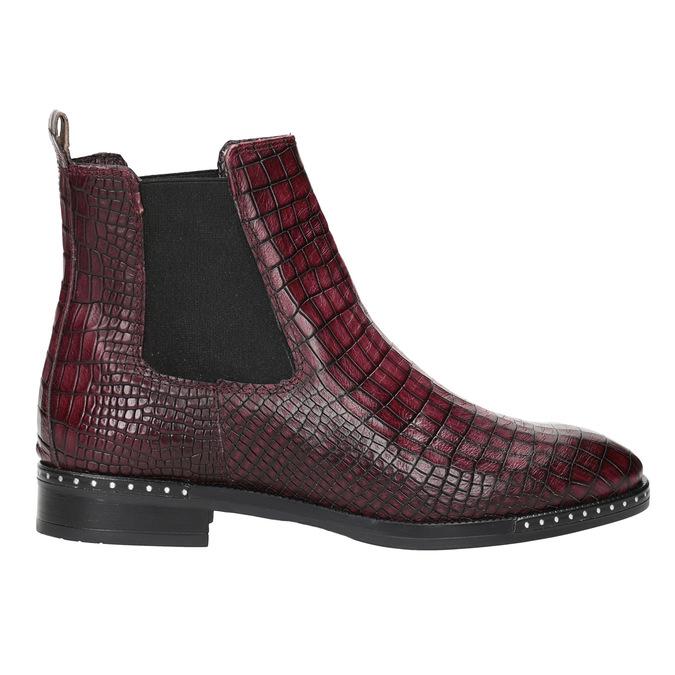 Damen-Chelsea-Boots aus Leder bata, Rot, 596-5678 - 26