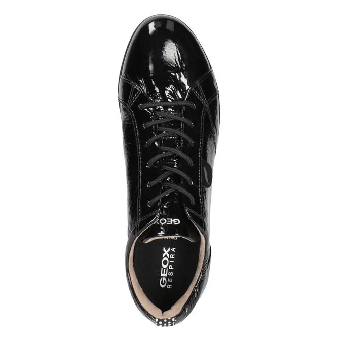 Schwarze Sneakers aus Leder geox, Schwarz, 528-6083 - 15