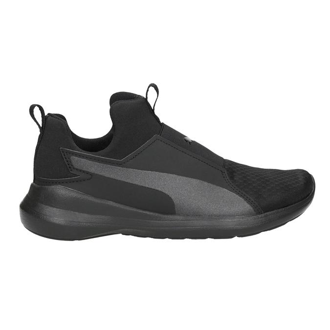Schwarze Damen-Sneakers ohne Schnürung puma, Schwarz, 509-6200 - 26