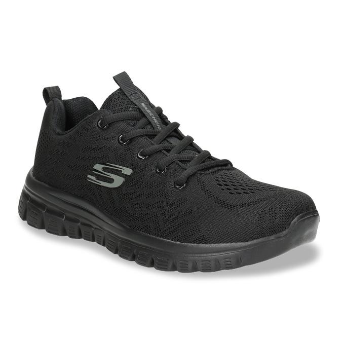 Schwarze, sportliche Damen-Sneakers mit Perforation, Schwarz, 509-6318 - 13