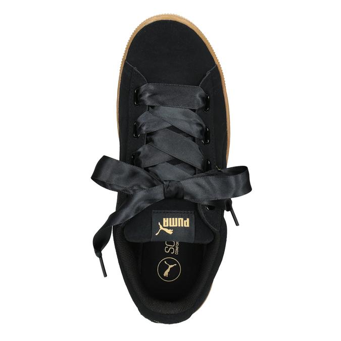 Damen-Sneakers aus Leder puma, Schwarz, 503-6169 - 15