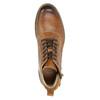 Braune Stiefeletten aus Leder bata, Braun, 896-3684 - 26