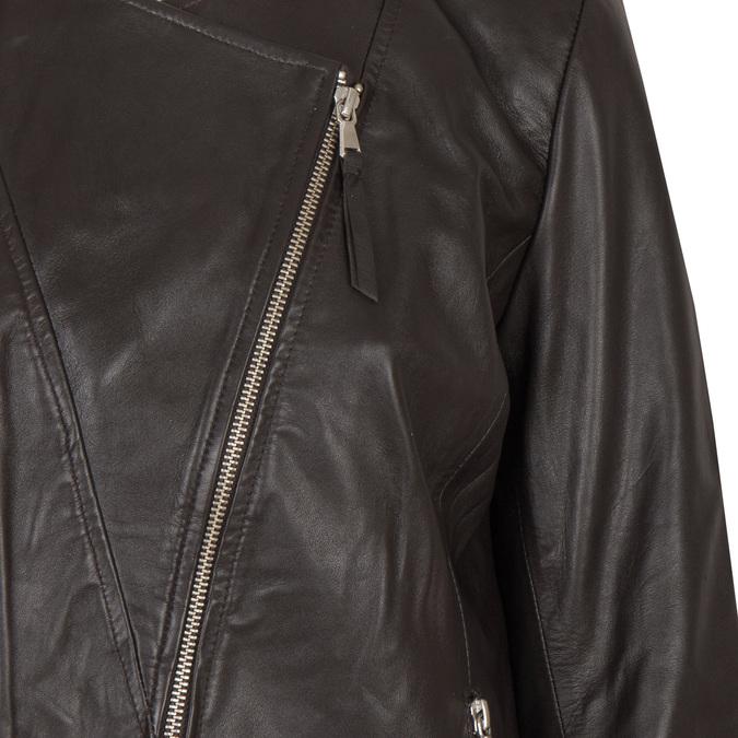 Damen-Lederjacke mit asymmetrischem Reißverschluss bata, Braun, 974-4177 - 16