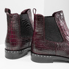 Damen-Chelsea-Boots aus Leder bata, Rot, 596-5678 - 14