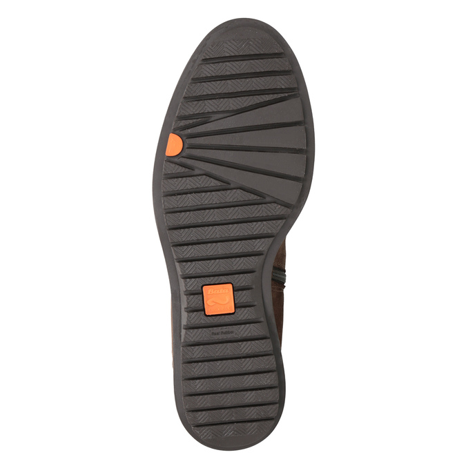 Braune Damenstiefel aus Leder mit Reißverschluss flexible, Braun, 594-4651 - 19