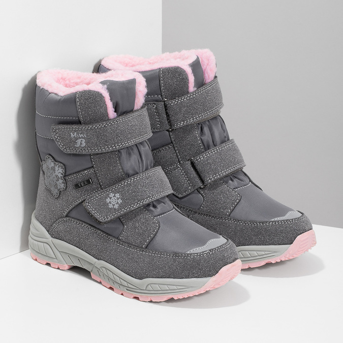 Mädchen-Schneestiefel mit Fell mini-b, Grau, 291-2625 - 26