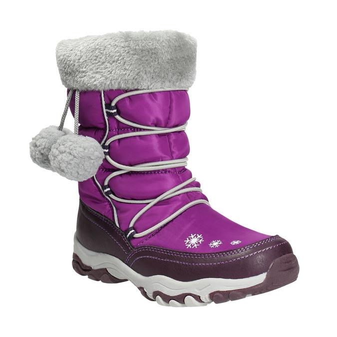 Mädchen-Schneestiefel mit Pompons mini-b, Violett, 399-5656 - 13