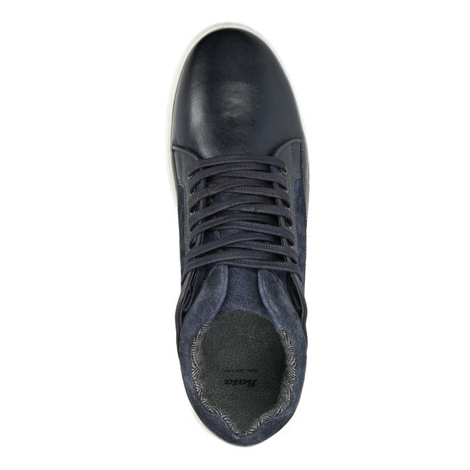 Herren-Sneakers aus Leder bata, Schwarz, 846-6643 - 15