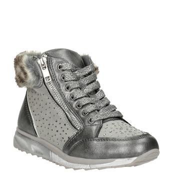 Silberne Mädchen-Winterschuhe mini-b, Grau, 329-2287 - 13