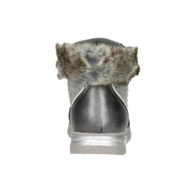 Silberne Mädchen-Winterschuhe mini-b, Grau, 329-2287 - 16