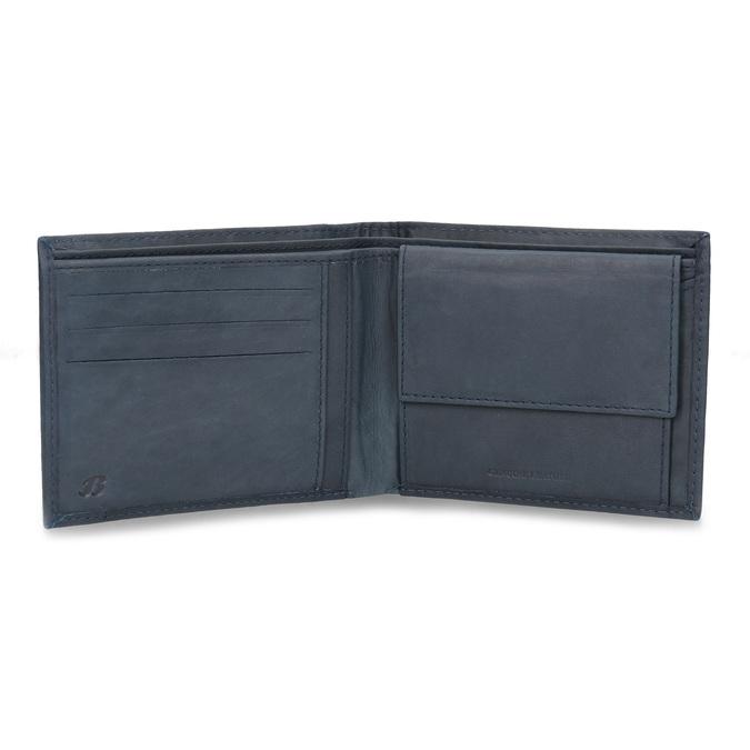 Herren-Geldbörse aus Leder, Blau, 944-9188 - 15