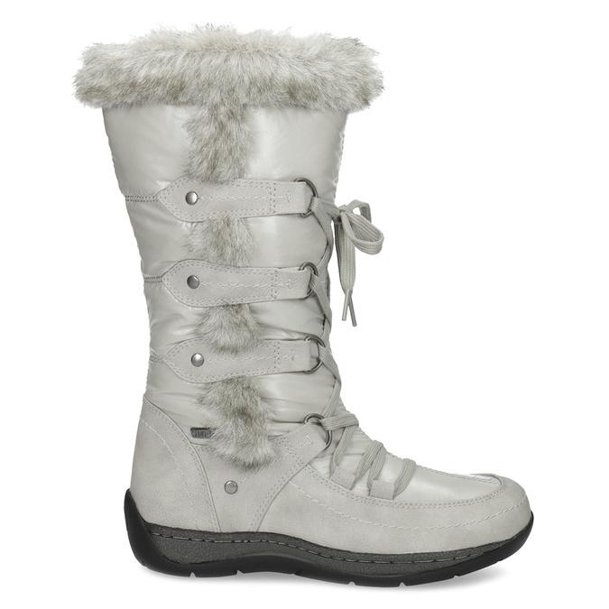 Schneestiefel mit Fell bata, Grau, 599-8618 - 19