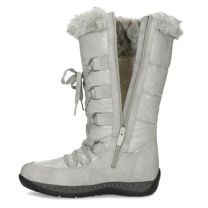 Schneestiefel mit Fell bata, Grau, 599-8618 - 17
