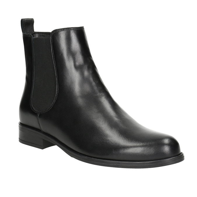 Damen-Chelsea-Boots aus Leder bata, Schwarz, 594-6661 - 13