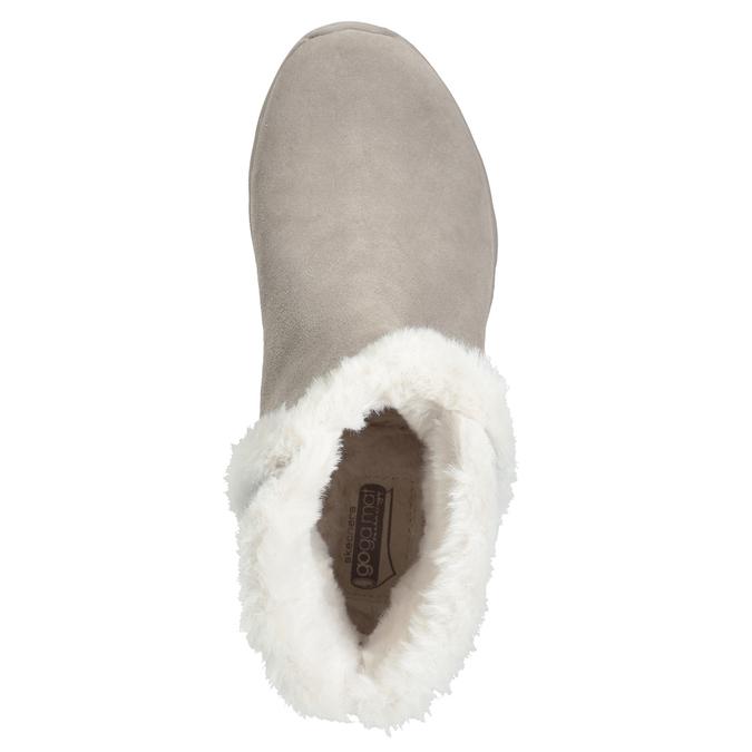 Damenschuhe aus geschliffenem Leder skechers, 503-3326 - 17
