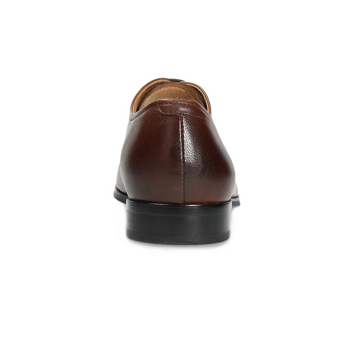 Braune Lederhalbschuhe im Oxford-Stil bata, Braun, 826-3808 - 15