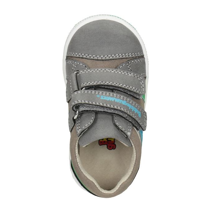 Kinder-Sneakers mit Klettverschluss bubblegummer, Grau, 111-2625 - 15