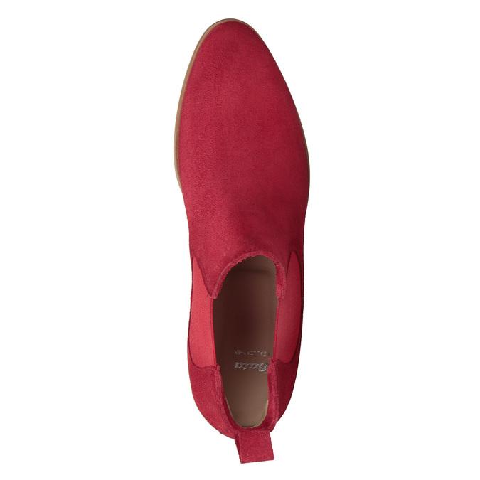 Rote Lederstiefeletten bata, Rot, 593-5611 - 19