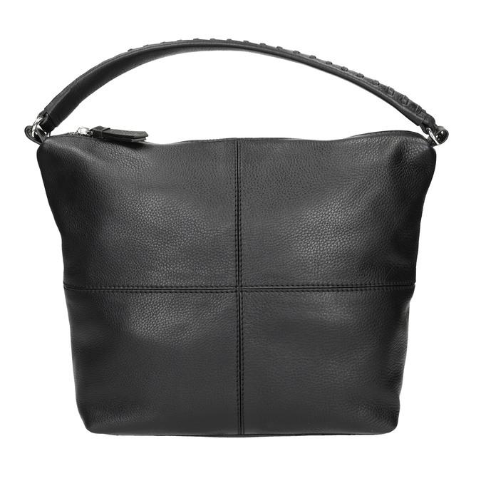 Hobo-Handtasche aus Leder mit Steppung bata, Schwarz, 964-6290 - 26