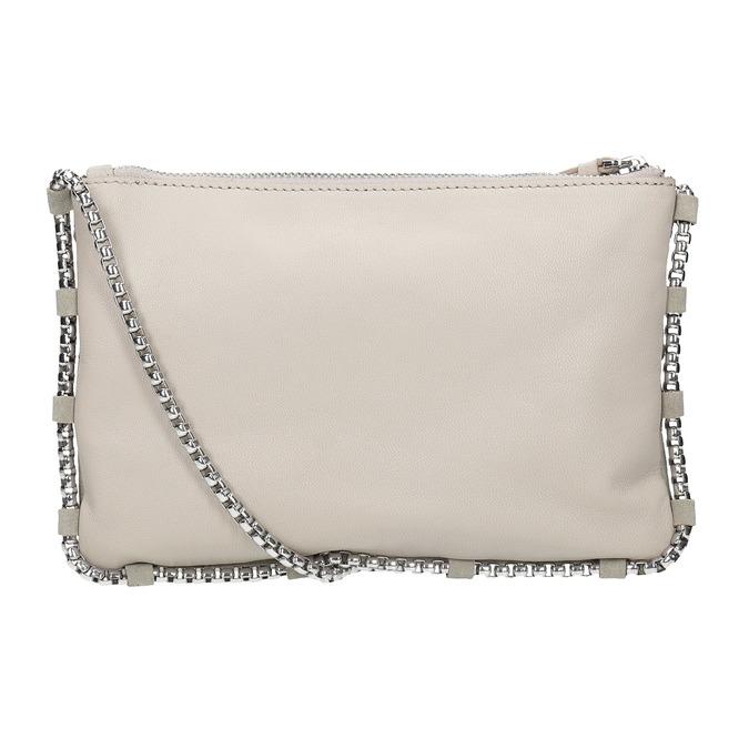Crossbody-Damenhandtasche aus Leder bata, Grau, 963-1193 - 16