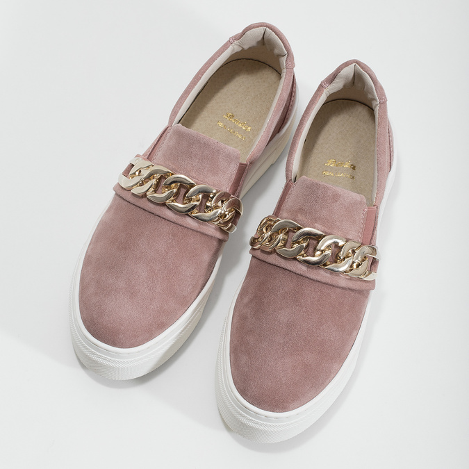 Damen-Slip-Ons aus Leder bata, 513-5600 - 16
