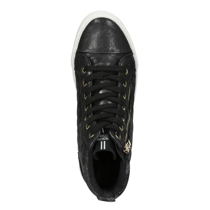 Schwarze, knöchelhohe Damen-Sneakers north-star, Schwarz, 541-6600 - 17
