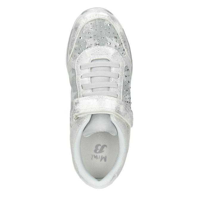 Silberne Kinder-Sneakers mit Steinchen mini-b, 329-1348 - 15
