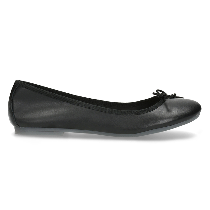 Leder-Ballerinas bata, Schwarz, 524-6144 - 19