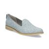 Damen-Loafers aus Leder bata, Blau, 519-9605 - 13