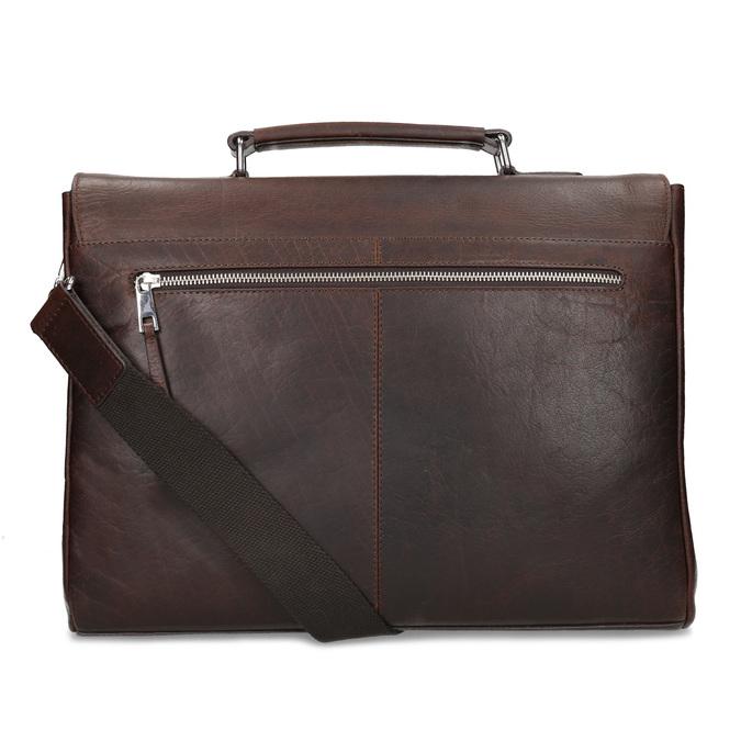 Braune Aktentasche aus Leder bata, Braun, 964-4289 - 16