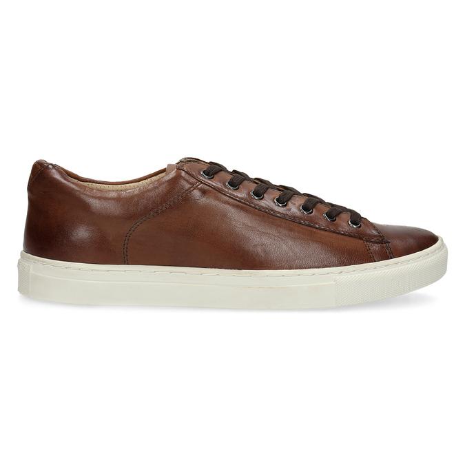 Herren-Sneakers aus Leder bata, Braun, 846-4648 - 19