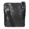 Schwarze Crossbody-Tasche aus Leder, Schwarz, 964-6288 - 16