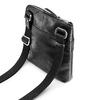 Schwarze Crossbody-Tasche aus Leder, Schwarz, 964-6288 - 17