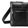 Schwarze Crossbody-Tasche aus Leder, Schwarz, 964-6288 - 15