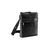 Schwarze Crossbody-Tasche aus Leder, Schwarz, 964-6288 - 13