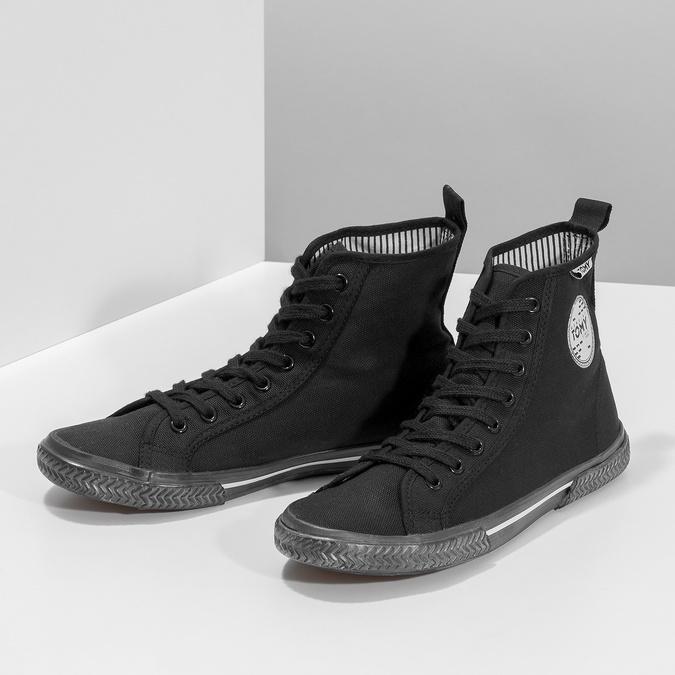 Schwarze, knöchelhohe Sneakers tomy-takkies, Schwarz, 589-6173 - 16