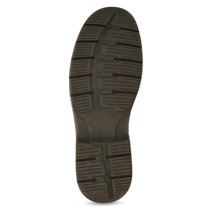 Braune Halbschuhe aus Leder bata, Braun, 826-4918 - 18