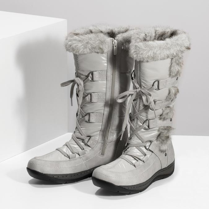 Schneestiefel mit Fell bata, Grau, 599-8618 - 16