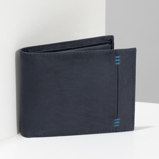 Herren-Geldbörse aus Leder, Blau, 944-9188 - 17