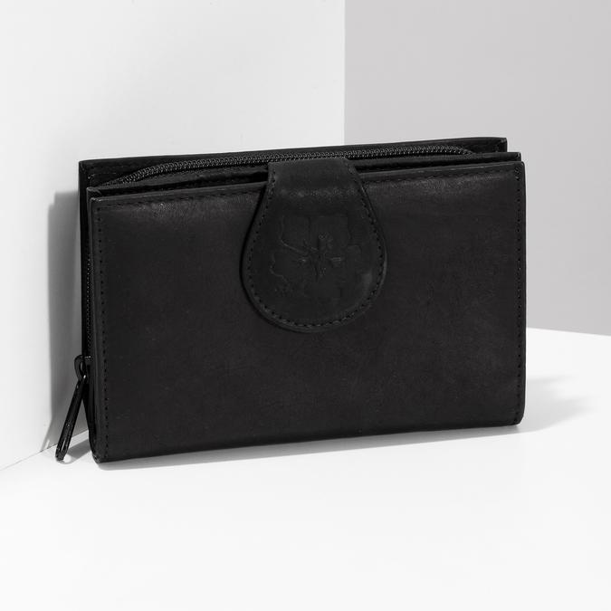 Damen-Geldbörse aus Leder bata, Schwarz, 944-6155 - 17