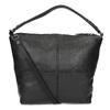Lederhandtasche mit abnehmbarem Gurt, Schwarz, 964-6233 - 16